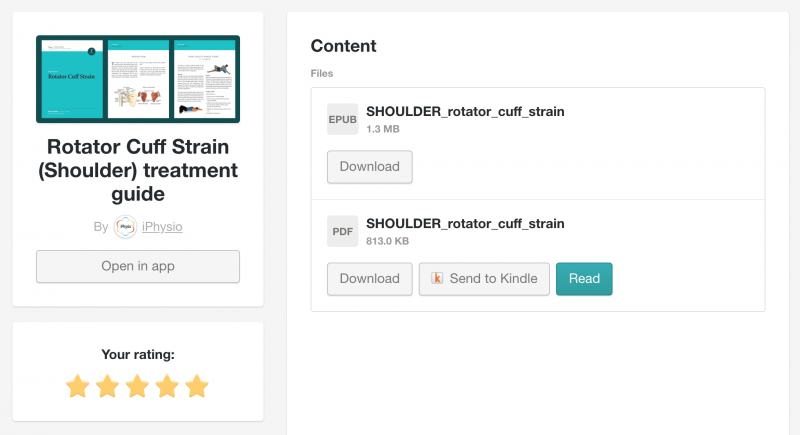 Gumroad view content screen